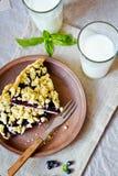 Blueberry crumble Stock Photo