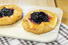 Blueberry danish Royalty Free Stock Photography
