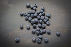 Blueberry. On a dark table Stock Image