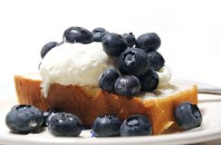 Blueberry Dessert Royalty Free Stock Photography