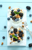 Blueberry dessert Stock Photos