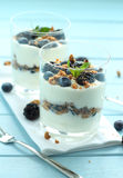 Blueberry dessert Stock Images