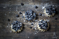 Blueberry dessert on the table Royalty Free Stock Photo