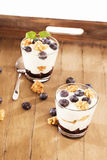 Blueberry desserts Stock Images