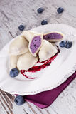 Blueberry dumpling. Royalty Free Stock Images
