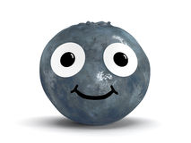 Blueberry with face Stock Photography