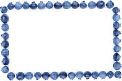 Blueberry frame stock photo