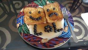 Blueberry French toast Royalty Free Stock Image