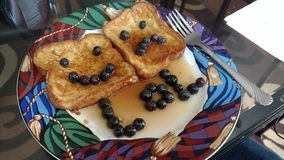 Blueberry French toast Stock Images