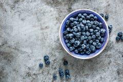Blueberry. Fresh blueberry on plate closeup Royalty Free Stock Photo