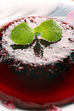 Blueberry fruit jelly on white plate Royalty Free Stock Image