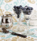 Blueberry in a glass Royalty Free Stock Photos