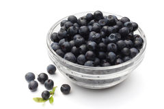 Blueberry in the glass cup Royalty Free Stock Photo