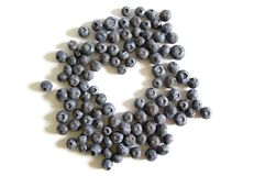 Blueberry heart Stock Image