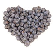 Blueberry Heart Stock Photography
