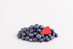 Blueberry and heart Royalty Free Stock Photo