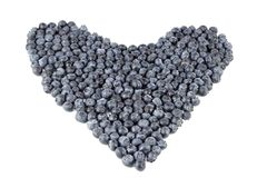 Blueberry Heart Organic Stock Images