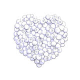 Blueberry heart shape Royalty Free Stock Photo