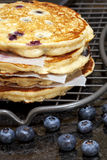 Blueberry Hotcakes Stock Photography