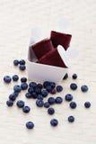 Blueberry ice cream Royalty Free Stock Image