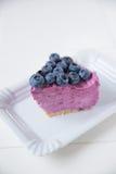 Blueberry Ice Cream Cake Royalty Free Stock Image