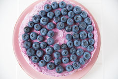 Blueberry Ice Cream Cake Royalty Free Stock Photography