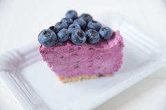 Blueberry Ice Cream Cake Stock Image