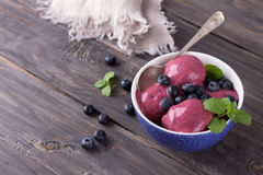 Blueberry ice cream Royalty Free Stock Photography