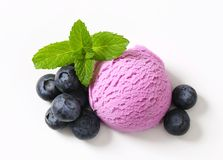 Blueberry ice cream Royalty Free Stock Images