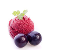 Blueberry ice cream Royalty Free Stock Photos