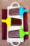 Blueberry ice cream Stock Image