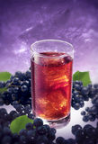 Blueberry ice drink Royalty Free Stock Images