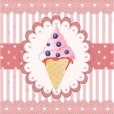 Blueberry icecream on the white background Stock Images