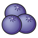 Blueberry Illustration. Abstract illustration of fresh blueberries Royalty Free Stock Photo