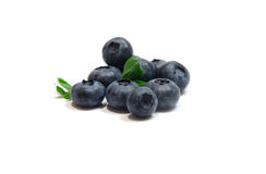 Blueberry. Isolated on white background Royalty Free Stock Photography