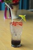 Blueberry italian soda Royalty Free Stock Photography