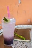Blueberry italian soda Royalty Free Stock Images