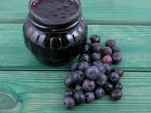 Blueberry jam Stock Images