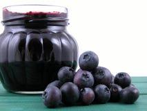 Blueberry jam royalty free stock photos