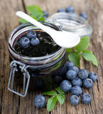 Blueberry jam Royalty Free Stock Photography