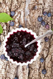 Blueberry jam Stock Photography