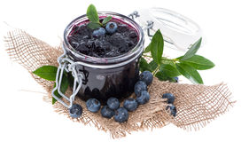 Blueberry Jam isolated on white Stock Images