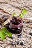 Blueberry jam Stock Photos
