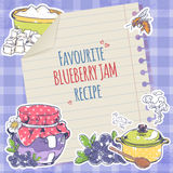 Blueberry jam poster Stock Photography