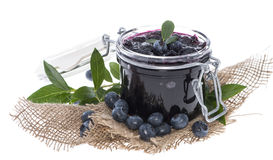 Blueberry Jam  on white Royalty Free Stock Images