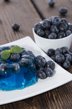 Blueberry Jello. With fresh fruits Royalty Free Stock Photography