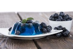 Blueberry Jello on a table Stock Photo