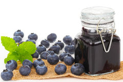 Blueberry jelly, blueberry jam Stock Photos