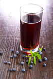 Blueberry juice Stock Image