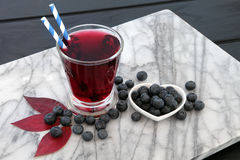 Blueberry Juice Drink Stock Photography